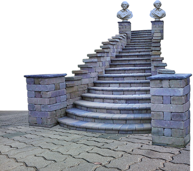 Sidewalk, Pavement, Outside, Stairs, Staircase