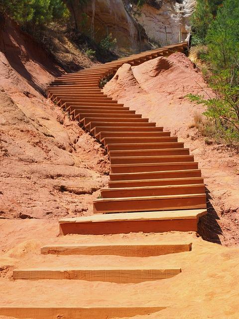 Stairs, Gradually, Nature Park, Rise, Emergence