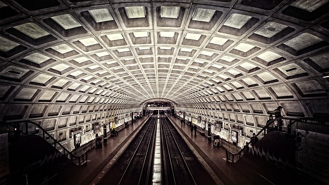 Metro, Washington Dc, Subway, Travel, Rails, Stairs