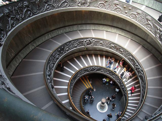 Vatican, Museum, Stairs, Rome