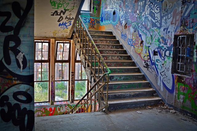 Lost Places, Factory, Stairs, Pforphoto, Staircase