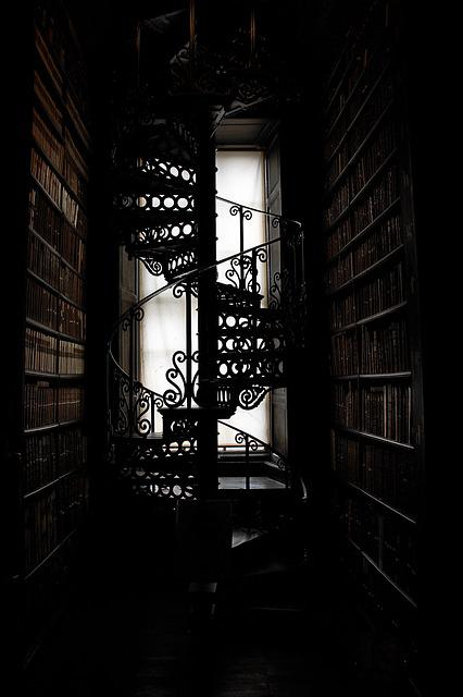 Spiral Staircase, Stairs, Trinity College, Library