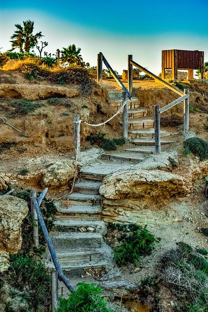 Cyprus, Kapparis, Stairs, Travel, Nature, Staircase