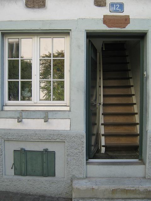House, Wall, Window, Stairs, Gradually, Basement
