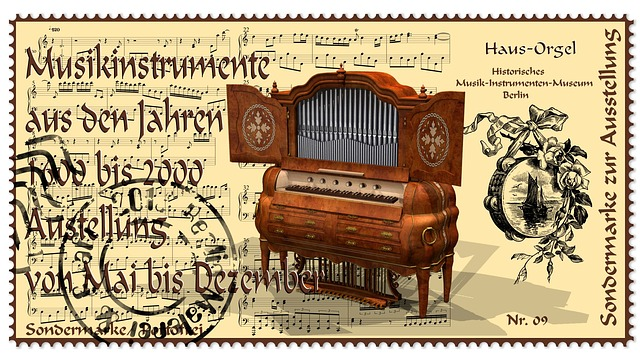 Stamp, Musical Instrument, Organ