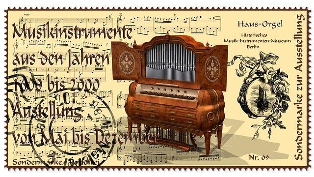 Stamp, Musical Instrument, Organ