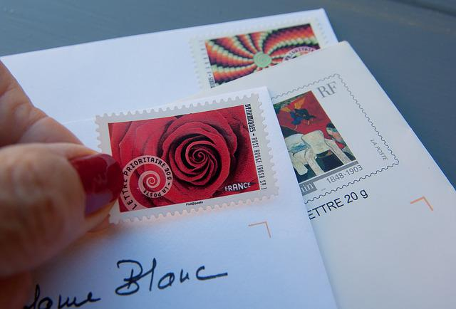 Stamps, Letters, Mail, Correspondence, Post