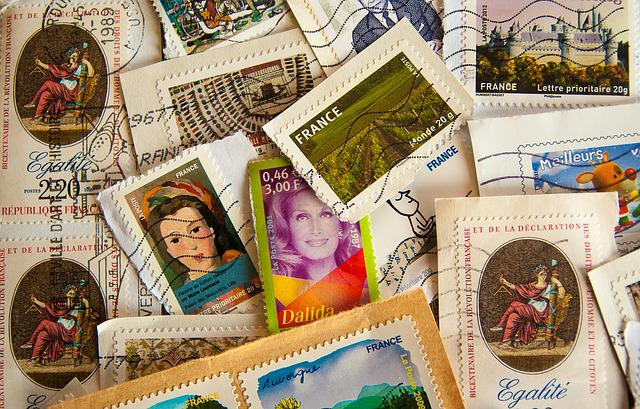 France, Stamps, Philately, Post, Mail, Collection