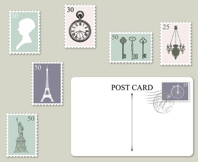Postage, Postcard, Stamps, Postage Stamp, Postmark