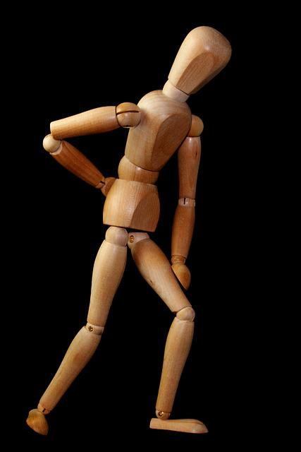 Fig, Man, Stand, Back Pain, Sciatica, Dorsalgia, Doll