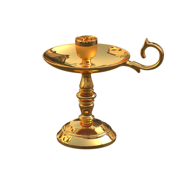 Golden Candlestick, Stand For Candles