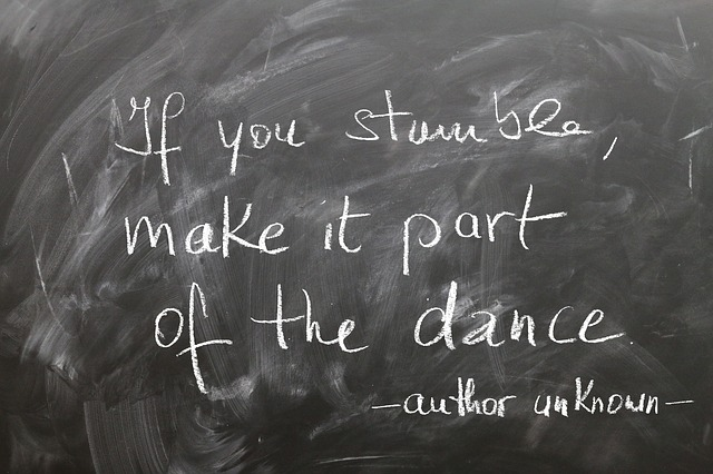 Board, Chalk, Stumble, Dance, Stand Up, Positive