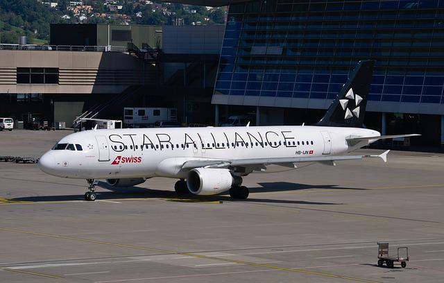 Aircraft, Airbus A320, Swiss Airlines, Star Alliance