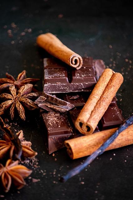 Cinnamon Sticks, Chocolate, Star Anise, Chocolate Bars