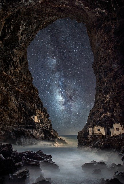 Star, Sea, Astronomy, Cosmos, Galaxy, Milky Way, Cave