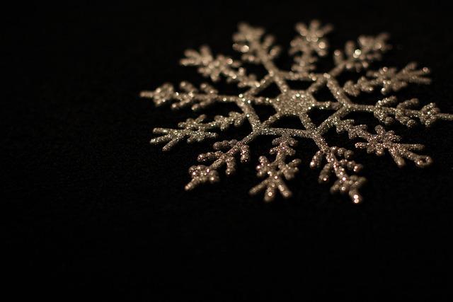Black, Christmas, Snowflake, Star, Advent, Decoration