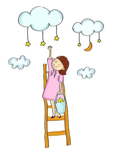 Good, Girls, Cloud, Star, Ladder