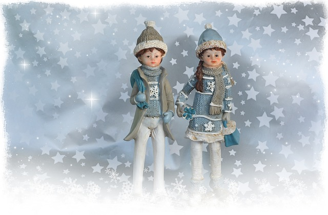 Star, Christmas, Figures, Pair, Winter, Blue