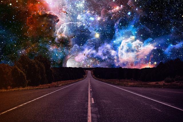 Space, Sky, Nebula, Street, Route, Night, Magic, Star