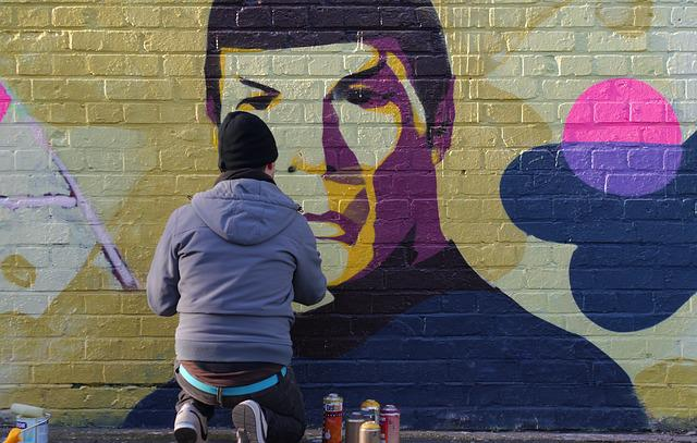 Graffiti, Spock, Leonard Nimoy, Star Trek, Enterprise