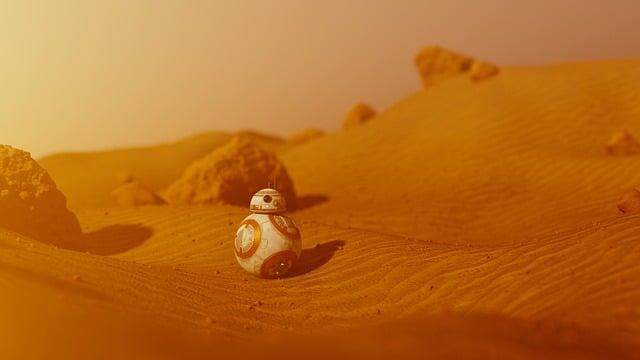 Bb-8, Bb8, Star Wars, Mars, Martian, Landscape, Sand
