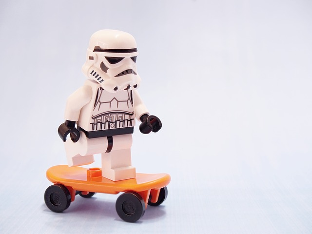 Stormtrooper, Skateboard, Lego, Skating, Star Wars
