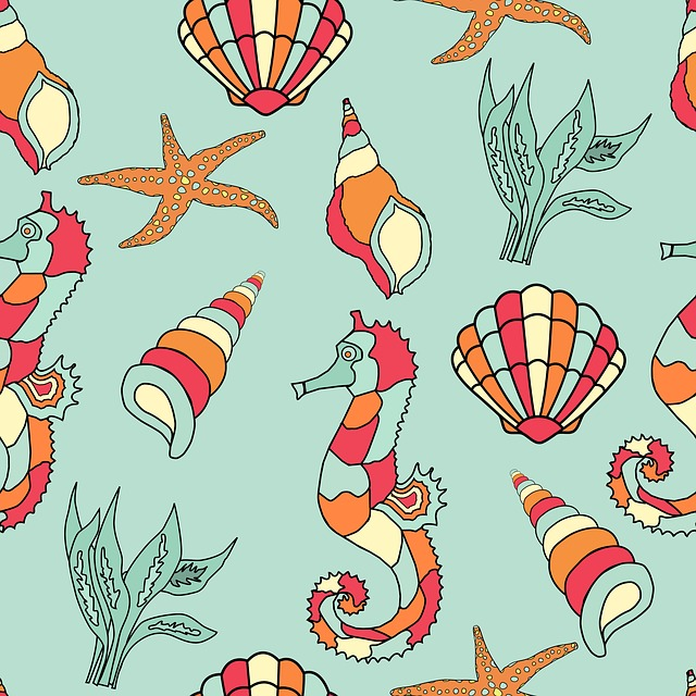 Seahorse, Seashell, Starfish, Shell, Sea Shell