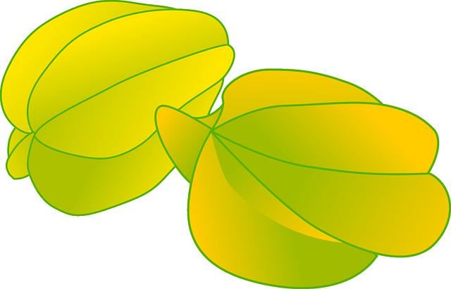 Starfruit, Fruit, Yellow, Carambola, Averrhoa Carambola