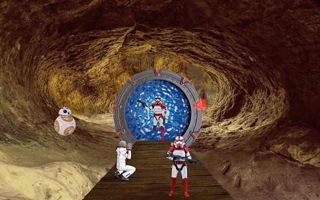 Fantasy, Cave, Science Fiction, Stargate, Photo Montage