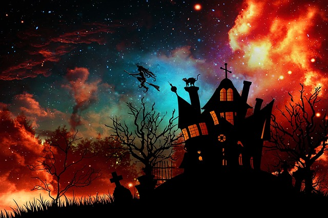 Witch's House, The Witch, Halloween, Starry Sky, Weird