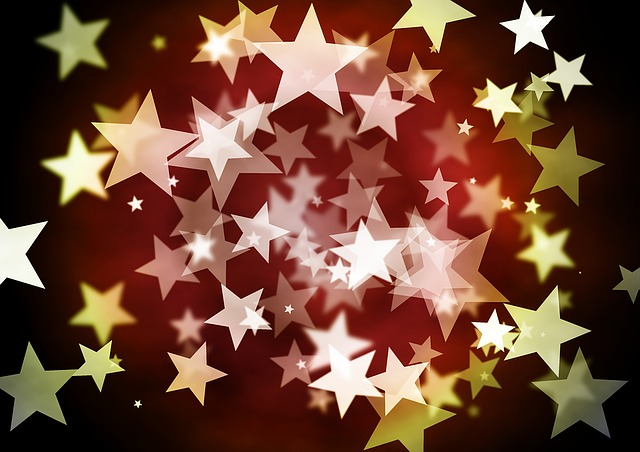 Stars, Background, Christmas