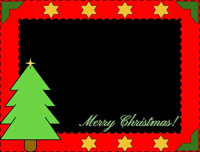 Christmas Border, Christmas, Pine Tree, Stars