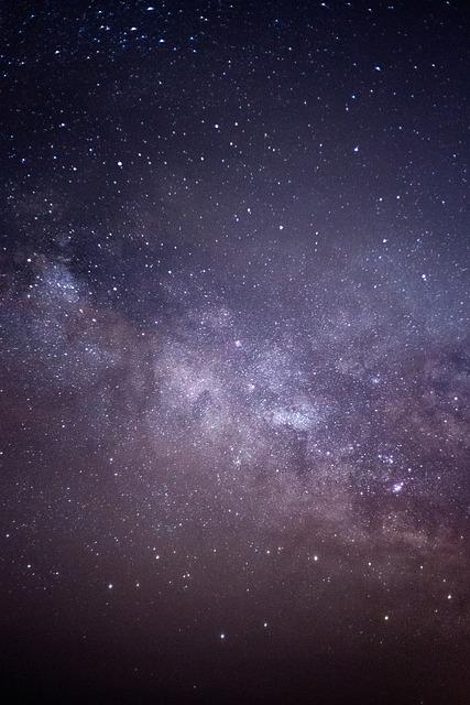 Milky Way, Night, Sky, Stars