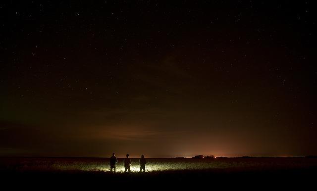 Night, Northern Lights, Nature, Lights, Stars, Space