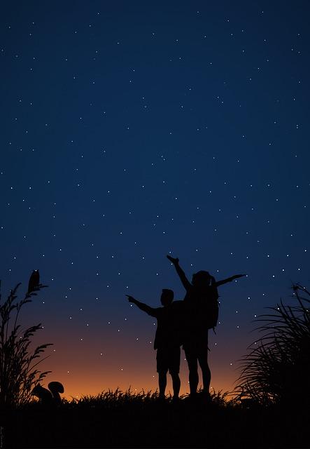 Stars, Sunset, Night, Moon, Sky, Planet, Space, Star