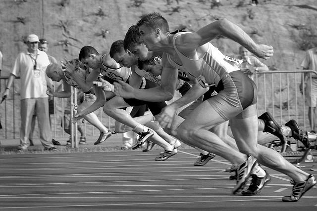 Spot, Runs, Start, La, Stadion, Jogging, Games, Sprint