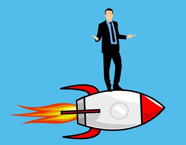 Entrepreneur, Business, Rocket, Start Up, Career, Man