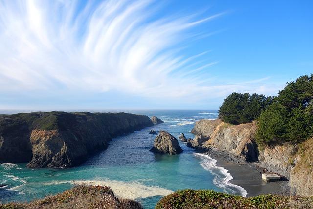 Seascape, Headland, Mendocino, State Park, California