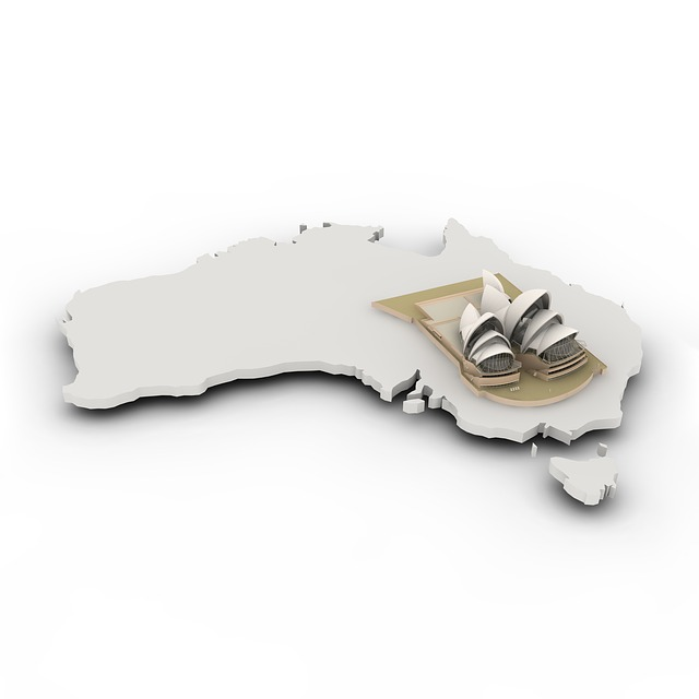 Map, Australia, Borders, Country, States Of America