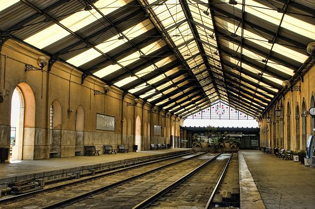 Station, Old, Interior, Trains, Railway Station
