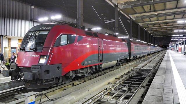 Train, Transport System, Railway, Station