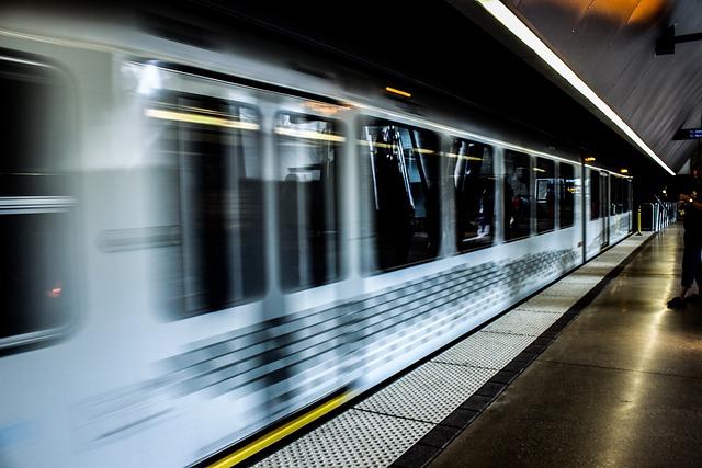Train, Subway, Tunnel, Speed, Underground, Station