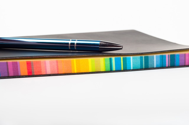 Notebook, Colorful, School, Stationary, White, Book