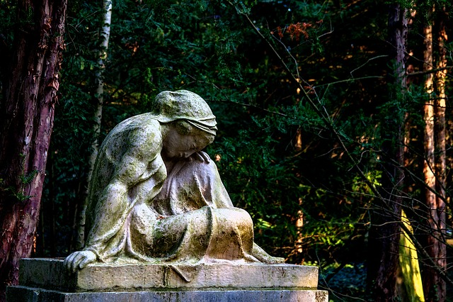 Cemetery, Sculpture, Angel, Faith, Statue, Tombstone
