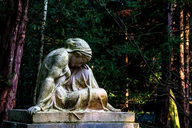 Cemetery, Sculpture, Angel, Faith, Statue, Tombstone