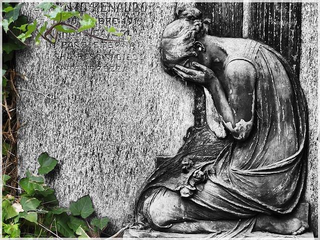 Cemetery, Monumental, Torino, Statue, Processing