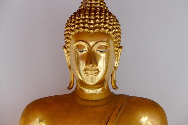 Buddha, Sculpture, Statue, Golden, Religion, Meditation