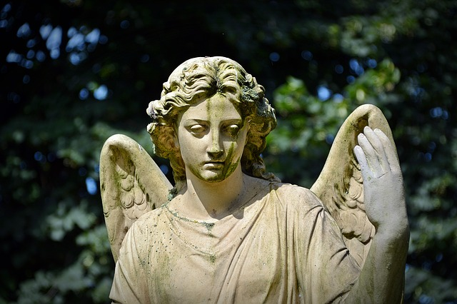 Angel, Fig, Mourning, Hope, Sculpture, Face, Statue