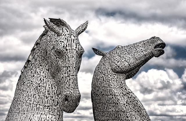 Kelpies, Falkirk, Horse, Statue, Scotland