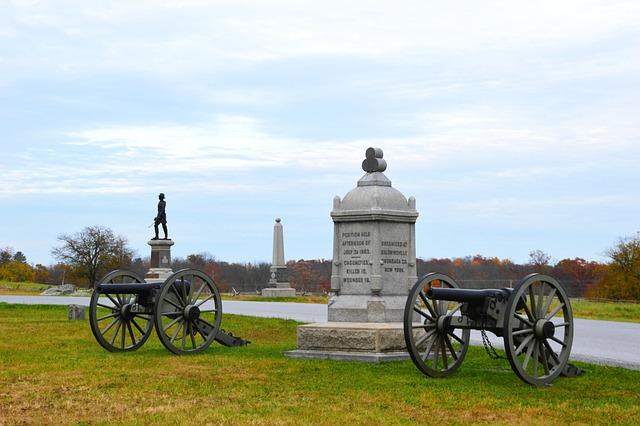 Cannon, History, Battle, Military, Gettysburg, Statue